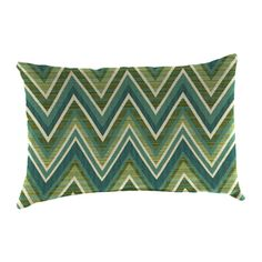 Sunbrella 2 Pack Fischer Oasis And Geometric Rectangular Throw Pillow  Outdoor Decorative Pillow