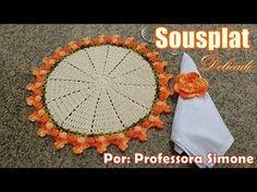 Sousplat Delicado em Crochê - por Simone Eleotério - YouTube