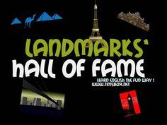 CLASSROOM GAMES - LANDMARKS HALL OF FAME - 5 indices audio, 1 image pour un monument célèbre à trouver- COLLEGE -  Tableau Blanc Interactif