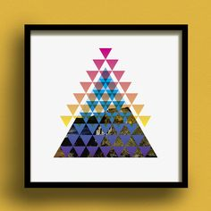 Pyramidica No.2 Square Digital Giclee Print