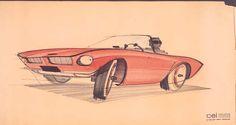 Preliminary studies for Studebaker Avanti automobile  Raymond Loewy