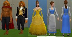 All of the Disney Princesses, their loves, their friends and their families for The Sims 4!