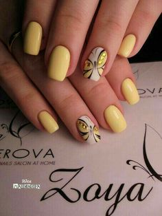Pin by Alexia Chénier on manucure in 2019 23 Great Yellow Nail Art Designs 2019 1 Spring Nail Art, Nail Designs Spring, Spring Nails, Nail Art Designs, Nails Design, Pedicure Designs, Summer Nails, Sparkly Nails, Fancy Nails