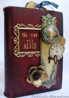 Tea Time w/ Alice altered book - Graphic 45