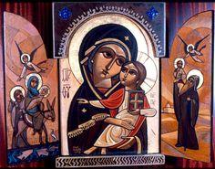 Theotokos & The Holy Family Coptic icon