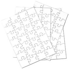 """Amazon.com: Inovart Puzzle-It Blank Puzzles 28 Piece 5-1/2"""" x 8"""" - 24 Per Package: Arts, Crafts & Sewing"""