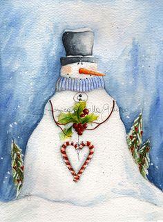 Art Print. Holiday Art. Watercolor Painting. by thewhitebenchart