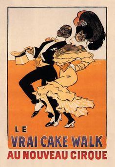 Le Vrai Cake Walk au Nouveau Cirque 12x18 Giclee on canvas