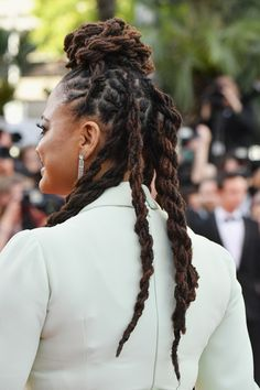 93 Awesome Dreadlocks Updos Hairstyles In Loc Updos Braids and Twists for Wedding Season, 30 Creative Dreadlock Styles for Girls and Women, Curly Dreadlocks Updo, Curly Dreadlocks Updo. Wavy Wedding Hair, Long Hair Wedding Styles, Simple Wedding Hairstyles, Dreadlock Styles, Dreads Styles, Updo Styles, Medium Hair Styles, Curly Hair Styles, Natural Hair Styles