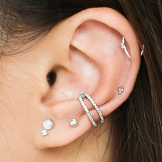 Surprise Ear Bar Trio in Sterling Silver