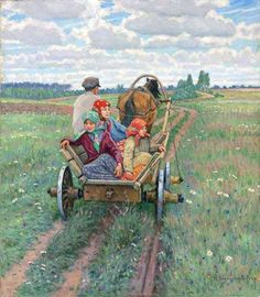 """Riding (After Day's Work)"" 1930's 