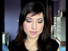 Maquillaje de ojos noche marrones y morado - YouTube
