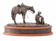 Count on Me Sculpture - Sculptures & Art - Montana Lifestyles Horse Sculpture, Animal Sculptures, Western Decor, Western Art, Montana, Westerns, Cowgirl Boots, Decoration, Cute Pictures