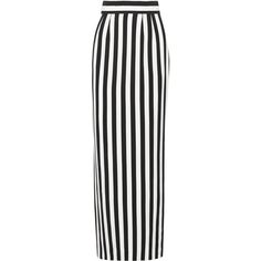Dolce & Gabbana Striped crepe maxi skirt ($340) ❤ liked on Polyvore featuring skirts, bottoms, юбки, maxi skirt, saias, black, long black skirt, long striped skirt, striped maxi skirt and black skirt