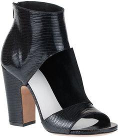 Maison Martin Margiela Cutout Sandal Bootie $552.00