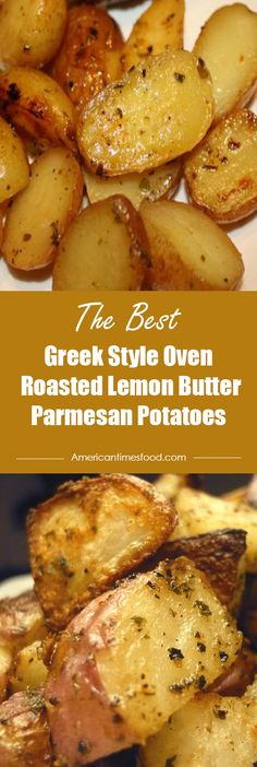Greek Style Oven Roasted Lemon Butter Parmesan Potatoes – I Cook I Eat - Happy Cooking , In the food recipe th Butter Potatoes, Greek Potatoes, Parmesan Potatoes, Greek Roasted Potatoes, Oven Roasted Potatoes, Cook Potatoes In Oven, Oven Roasted Cauliflower, Side Dish Recipes, Vegetable Recipes