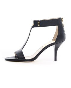 Saffiano T-Strap Plate Sandal by MICHAEL Michael Kors at Neiman Marcus.