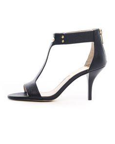 Saffiano T-Strap Plate Sandal by MICHAEL Michael Kors at Neiman Marcus.