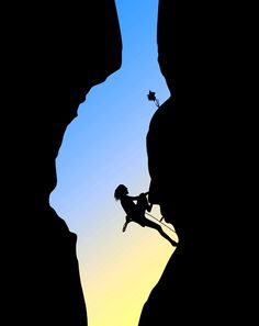 The biggest achievement for me this year is rock climbing! - The biggest achievement for me this year is rock climbing! Climbing Girl, Rock Climbing Gear, Abseiling, Rappelling, Kayak, Silhouette, Trekking, Extreme Sports, Climbers