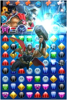 #Thor #Fan #Art. (Thor (Marvel NOW!) Thunder Strike Move, In: Marvel Puzzle Quest!) By: AMADEUS CHO! (THE * 5 * STÅR * ÅWARD * OF: * AW YEAH, IT'S MAJOR ÅWESOMENESS!!!™)[THANK Ü 4 PINNING<·><]<©>ÅÅÅ+(OB4E)  https://s-media-cache-ak0.pinimg.com/564x/ee/1c/d4/ee1cd45fd3a9de56203f2f0e09ccb3b1.jpg