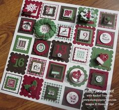 Stampin' Up!® Countdown To Christmas 12x12 Wall Art with Peekaboo Frames Die - Stamp Your Art Out! www.stampyourartout.com