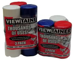 """Red, White & Blue Viewtainer 3-Pack 2"""" X 4"""" and 2"""" X 6"""""""
