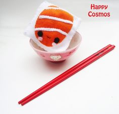 Sushi Cube Plushie  Cute Children Toy  Kawaii by HappyCosmos, $7.00