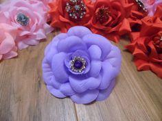 Stunning  Lavender Silk  Rose Vintage brooch by gypsycowgirlchic