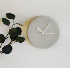 eme + grey concrete clock