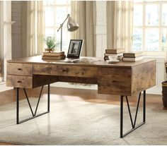 Shop for Coaster Writing Desk, and other Home Office Desks at Stacy Furniture in Grapevine, Allen, Plano and Flower Mound, Texas. Finish: antique writing desk with full extension glides-metal base finished in black-available in grey driftwood ( Office Furniture Stores, Furniture Deals, Home Furniture, Furniture Outlet, Online Furniture, Cheap Furniture, Luxury Furniture, Pallet Furniture, Rustic Furniture