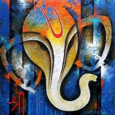 Image result for modern art paintings of lord ganesha