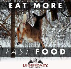 Eat more FAST food! #Venison #WeAreLegendary #LegendaryWhitetails http://community.deergear.com