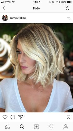 Short bob hairstyles are very versatile and can complement almost everyone. With many modern and fresh styles, Bob hairstyles can be adapted to your personality. Blunt bob haircut claimed several decades ago [Read the Rest] → Short Blonde Bobs, Medium Blonde Bob, Long Bobs, Dark Blonde, Blond Medium Length Hair, Blunt Blonde Bob, Messy Blonde Bob, Curly Lob, White Blonde