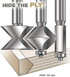MLCS carbide tipped edge banding router bits add an attractive edge to shelving and doors