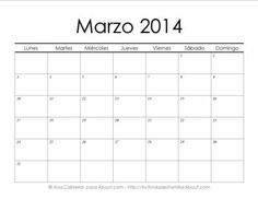 Calendarios 2014 simples para imprimir> Marzo #Calendario #Imprimir #Imprimible #Printable