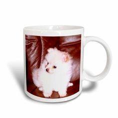 3dRose White Pomeranian, Ceramic Mug, 15-ounce