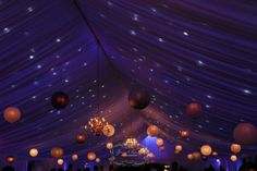 Purple starlights. Photo Credit: Janet Lanza Photography #brandywinemanorhouse #philadelphiawedding #chestercounty