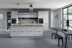 Seymour Modern style replacement kitchen doors finished in light grey Replacement Kitchen Doors, Kitchen Styling, Colours, Grey, Modern, Taupe, Handle, Furniture, Home Decor