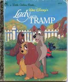 Lady and the Tramp Little Golden Book by DustyDiggerLise on Etsy.