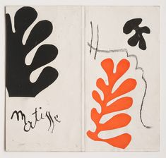 Henri Matisse Cover maquette for the exhibition catalogue, 'Henri Matisse: Lithographies rares'  Gouache on paper, cut and pasted, c. 1954 22.1 x 23.6cm