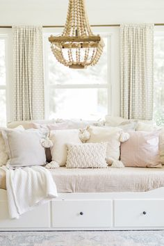 Home Office + Guest Room - Stephanie Hoey Interiors Guest Bedroom Home Office, Room Design Bedroom, Room Ideas Bedroom, Guest Bedrooms, Bedroom Decor, Day Bed Decor, Guest Room Decor, Cama Ikea Hemnes, Hemnes Bed