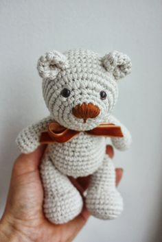Making crochet teddy bears   Making tiny teddy bears. First photo of this project. There will be many teddy bears with different colours ...