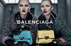 Balenciaga FALL WINTER 2015 Campaign | Image #7 | Photographer: Steven Klein | Models : Kate Moss & Lara Stone | www.balenciaga.com