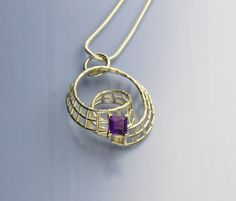 Wire with amethyst jnelsonart