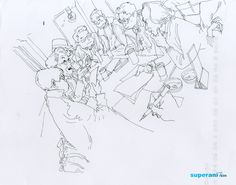 Kim JungGi First Person Perspective ink pen drawing