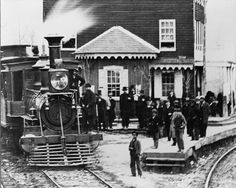 The Hanover Junction (Hanover, Pennsylvania) Railroad Station in 1863.