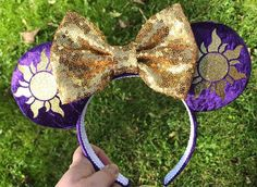desenhos I see the light ears Disney Minnie Mouse Ears, Diy Disney Ears, Cute Disney, Disney Bows, Disney Ears Headband, Disney Headbands, Ear Headbands, Micky Ears, Disney Day