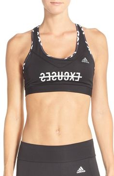 a11f99ccb7 adidas  Techfit - No Excuses  CLIMALITE® Sports Bra available at  Nordstrom  Sporty