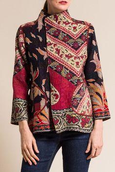 Mieko Mintz. | Фактура цвета. Настроение. Идеи. | VK Batik Fashion, Hijab Fashion, Batik Mode, Funky Outfits, Batik Dress, Silk Jacket, Sweater Coats, Saris, Vintage Cotton