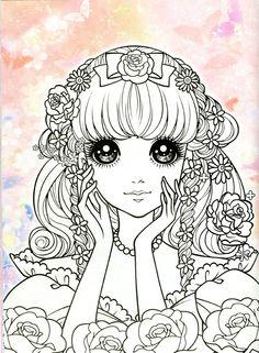 Korean Coloring Book - pink - Mama Mia - Álbuns da web do Picasa Princess Coloring Pages, Coloring Book Art, Adult Coloring Book Pages, Printable Adult Coloring Pages, Colouring Pages, Kids Coloring, Colorful Drawings, Colorful Pictures, Kawaii